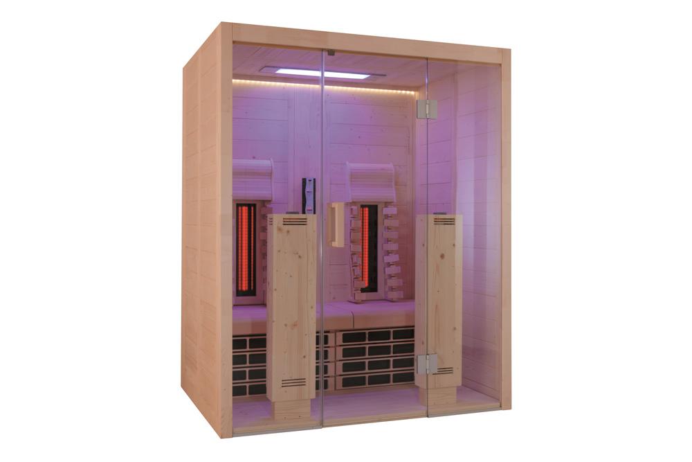 Vista tecnica sauna infrarossi MsPiscine